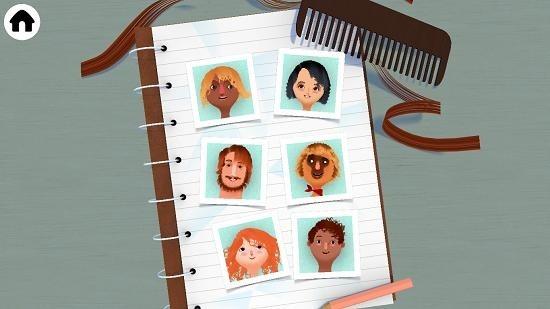 Toca Hair Salon 2 select hair type