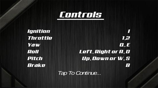 3D Flight Simulator controls