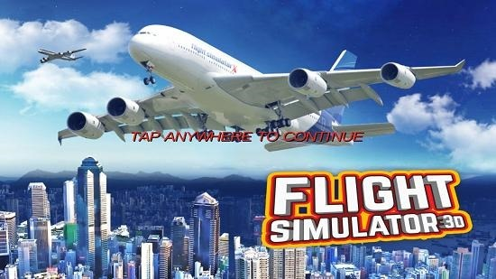 3D Flight Simulator main screen