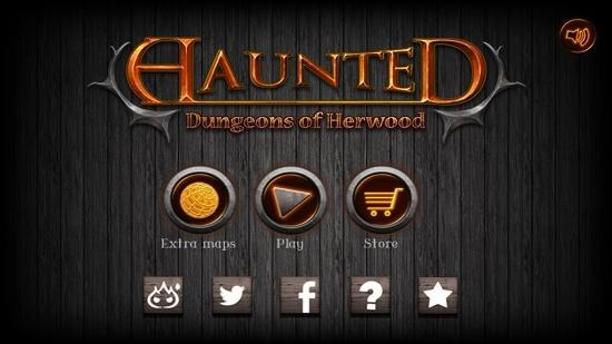 Haunted main menu