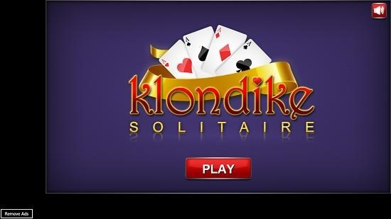 Klondike Solitaire   Main Screen