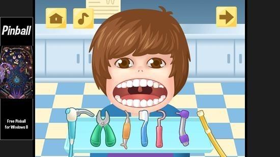 Little Big Dentist teeth cleaned