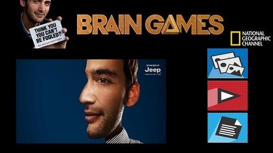 Nat Geo Brain Games Main Screen