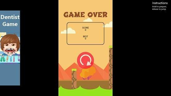 Spring Ninja Jump game over