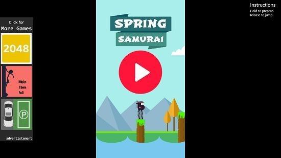 Spring Ninja Jump main screen