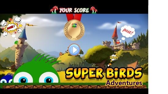 Super Birds Main Screen