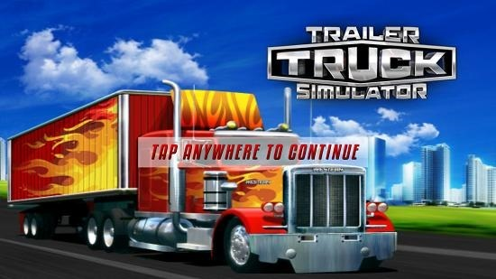 Trailer Truck Simulator 3D main screen