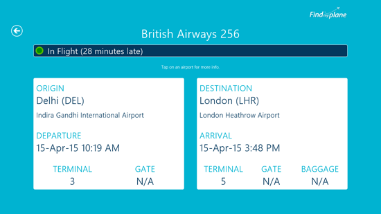 Flight Tracking App For Windows 8