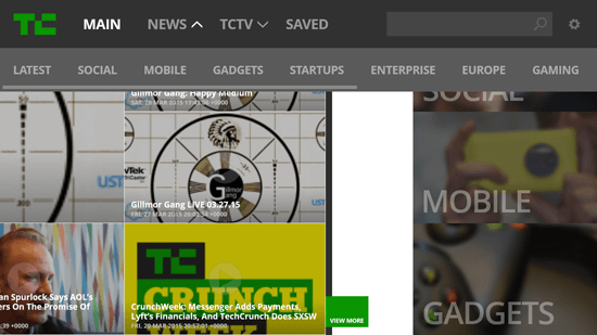 TechCrunch for Windows 8