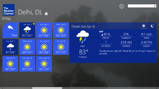 Free Weather App for Windows 8 : The Weather Channel | Windows 8