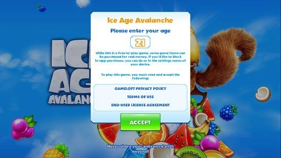 Ice Age Avalanche main screen
