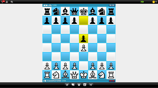 Online Chess   gameplay in progress