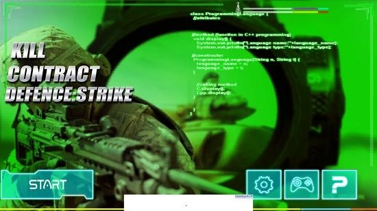 Kill Contract Defence Strike main screen