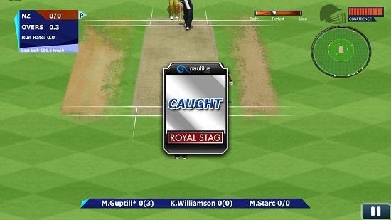Real Cricket 15 caught