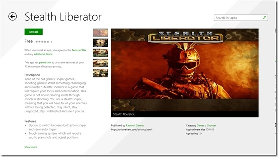 Free Shooting Game for Windows 8: Stealth Liberation