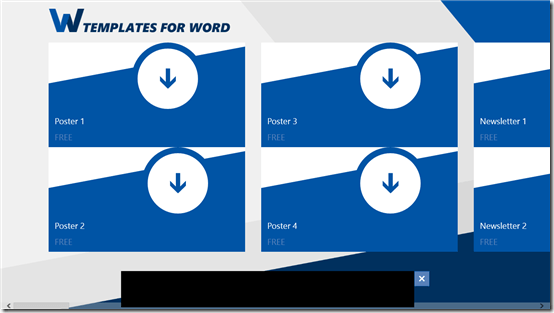 Template for Microsoft Word