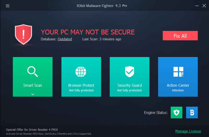 IObit Malware Fighter 6.2.0 Crack & License Key 2018