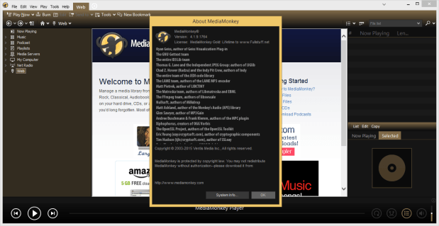 MediaMonkey Gold 4.1.9.1764 Serial Keys [ Updated ] Working 100%