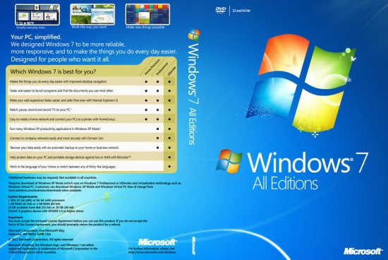 Windows 7 All Edition ISO (x86/x64) Pre-Activated