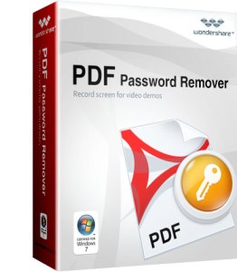 Wondershare PDF Password Remover Crack With Serial Key 2018