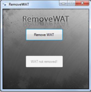 removewat windows xp