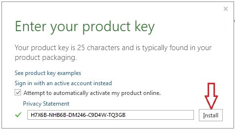 ms office 2013 product key for activation