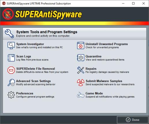 SUPERAntiSpyware Professional X free