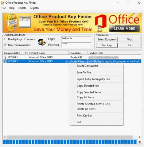 Nsasoft Product Key finder