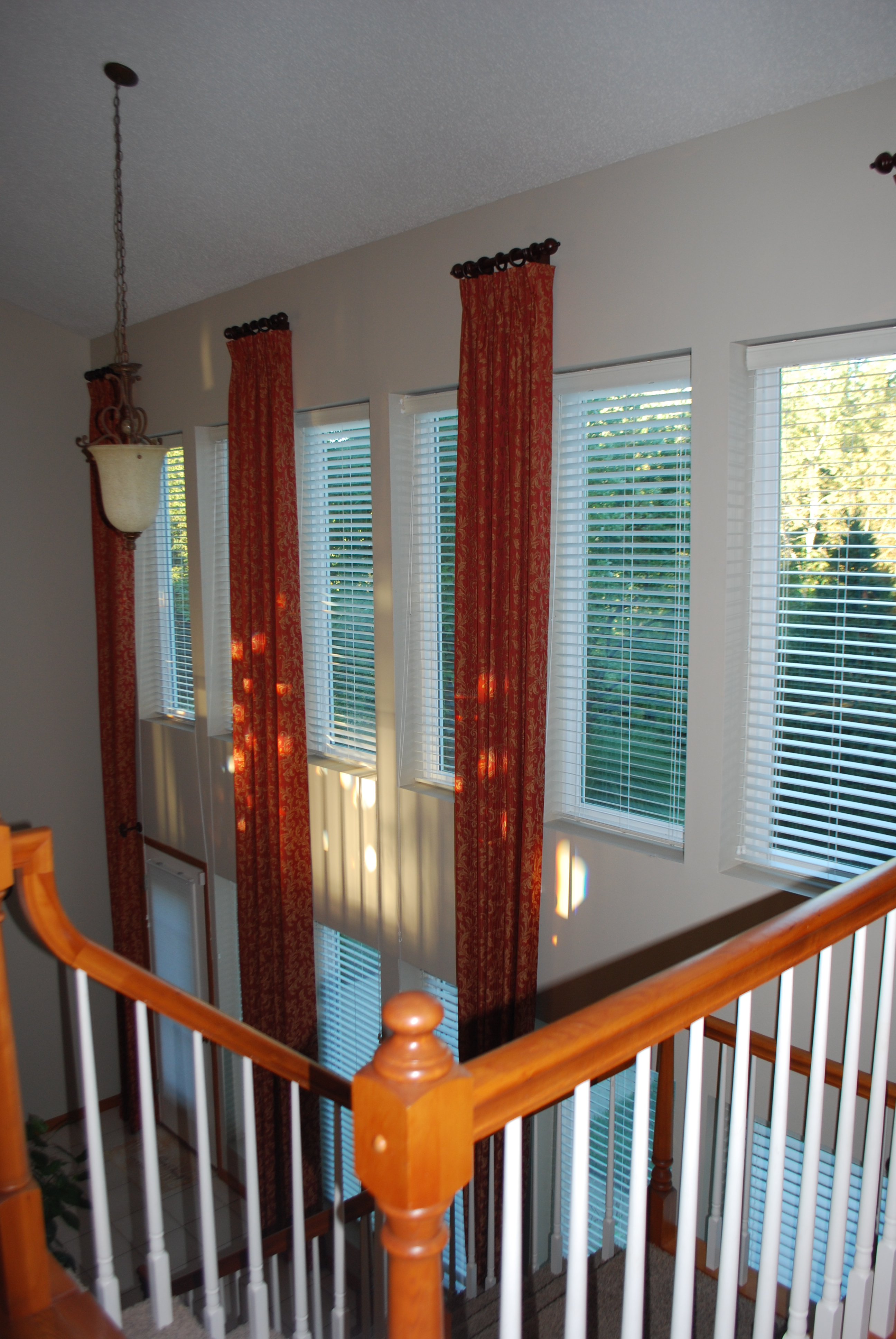 2 story window treatments and