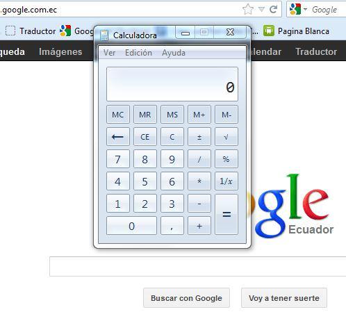 pagina web blanca con Google.com de fondo