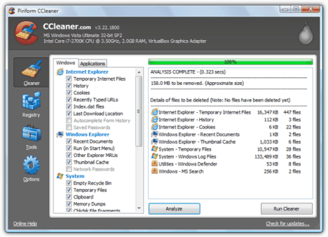 Acelerar Windows con Ccleaner 01