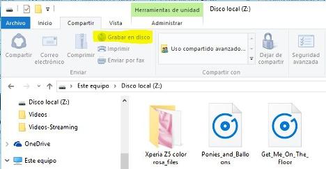 Grabar en Disco con Windows 10