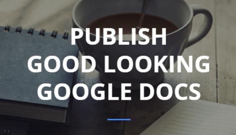 Google Doc Publisher