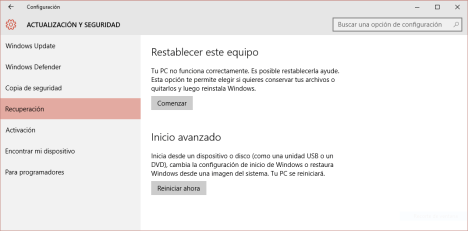 Reset a Windows 10