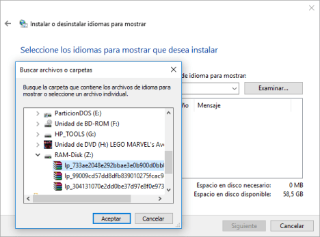 Cambiar idiomas en Windows 10