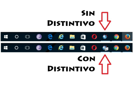 Distintivos en Barra de Tareas Windows 10