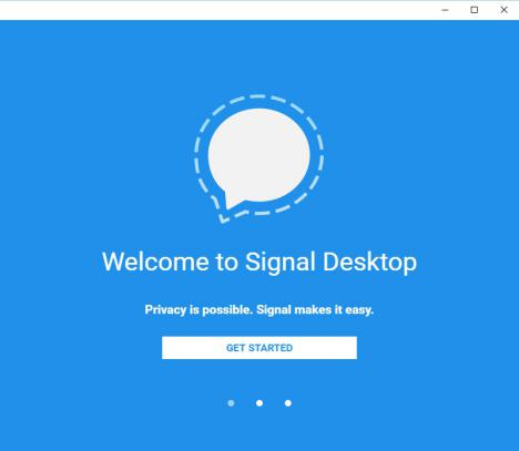 Chat online con Signal