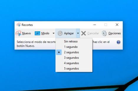recortes en Windows 10 Creators