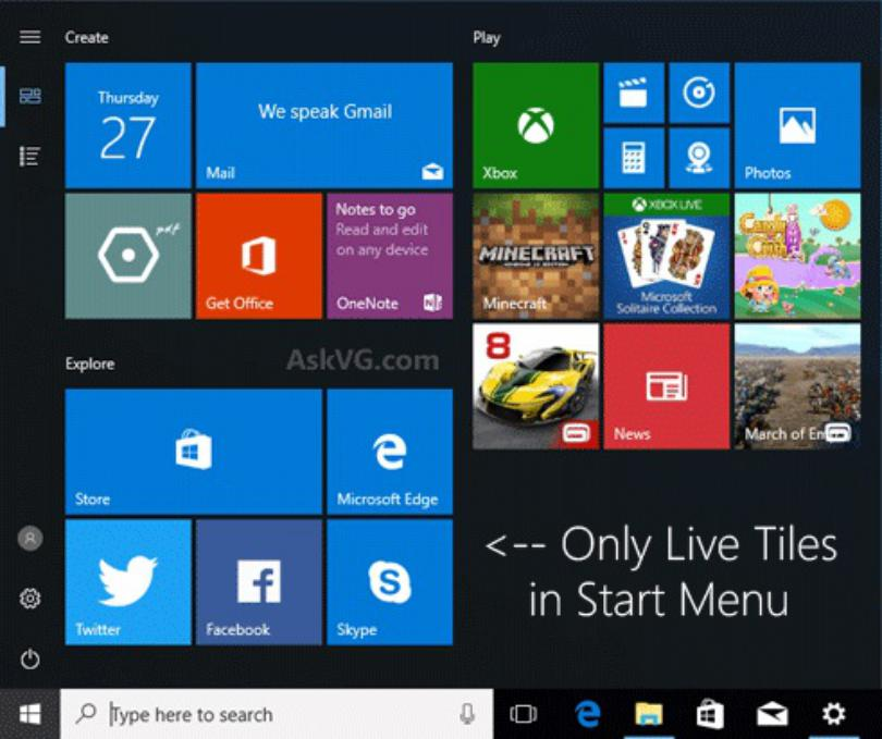 Inicio en Windows 10: Cómo personalizar los elementos del botón
