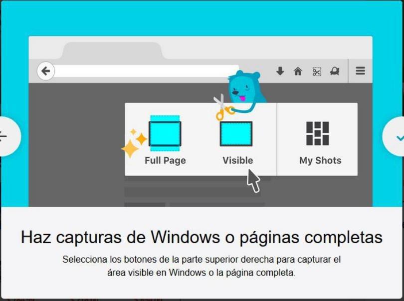 ScreenShot en Firefox: ¿Cómo activar la tijera antes de la versión 57?