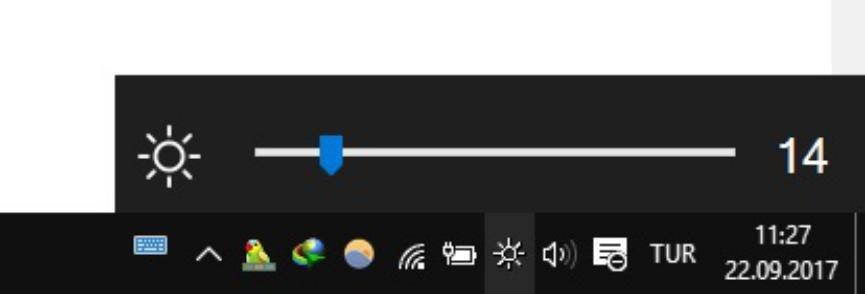 Brightness Slider cambiar brillo de pantalla