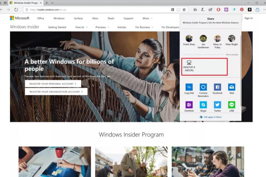 Near Share Apple AirDrop Windows 10