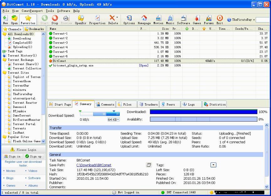 Crear Archivos Torrent con BitComet