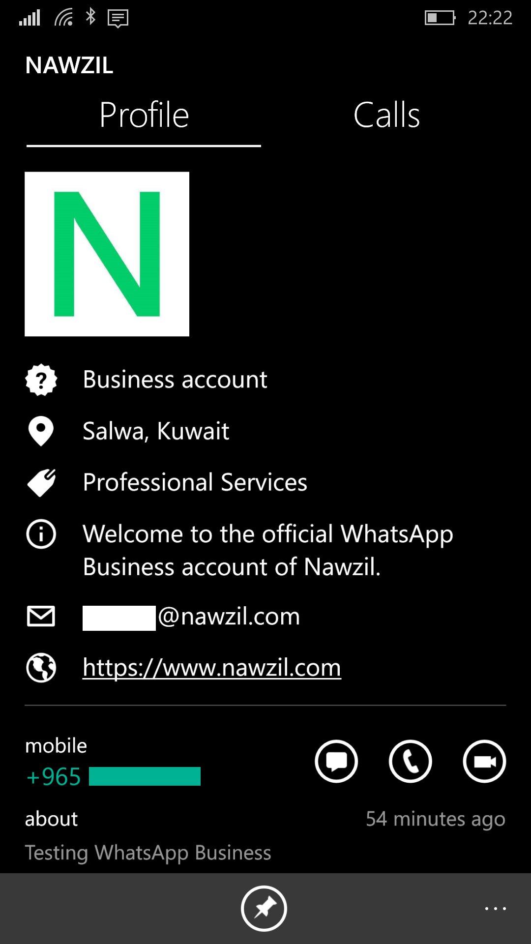 WhatsApp Business Windows 10 Mobile