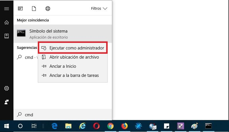 truco CMD en Windows 10