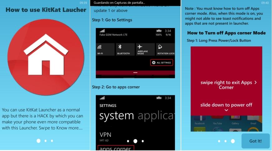 launcher Android en Windows Phone
