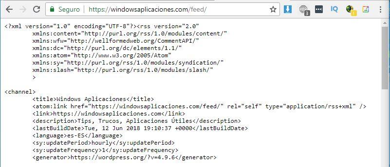 problemas Feed Rss para Google Chrome