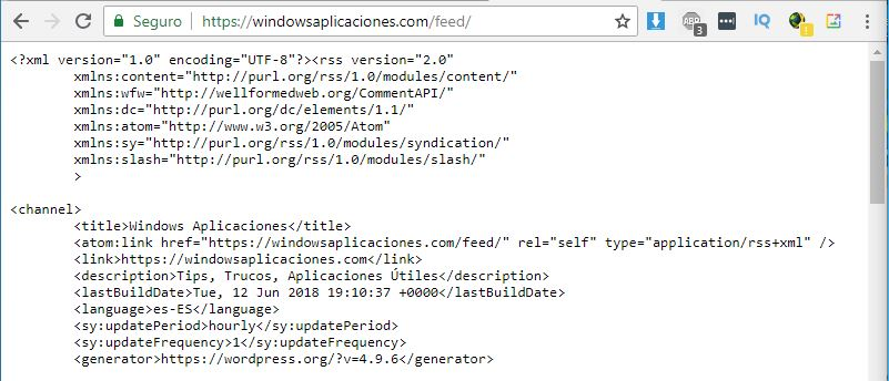 problemas Feed Rss para Google Chrome