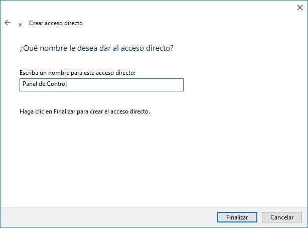 acceso directo de Panel de Control 02