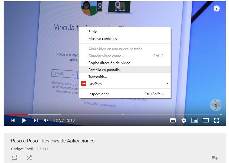 YouTube en ventana Flotante